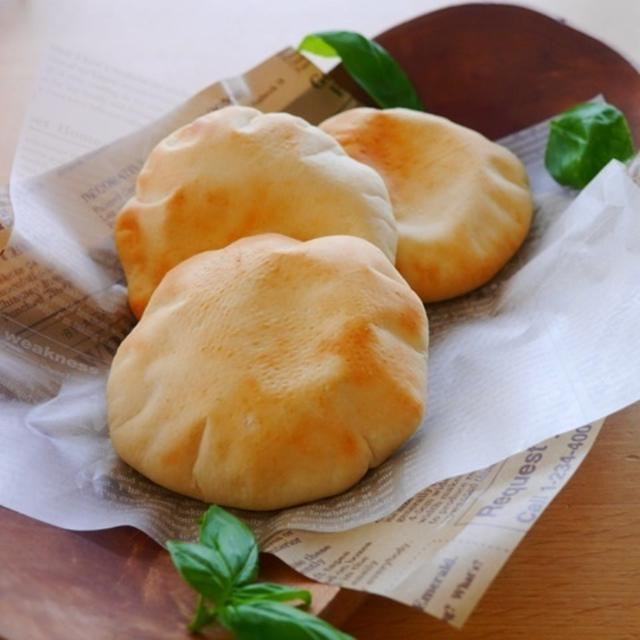 レンジ発酵*時短でポケットサンド(ピタパン)