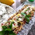 レモン風味のホタテのカルパッチョ仕立て!スペルト小麦添え