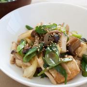 お豆腐が主役の中華風炒め。