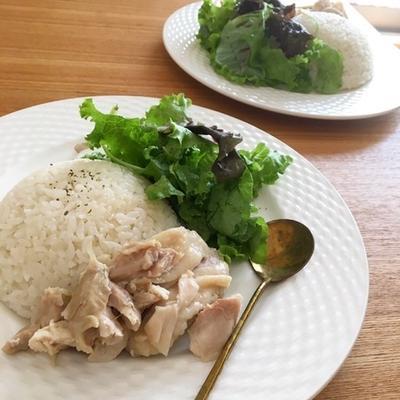 """炊飯器だけで""""カオマンガイ"""""""