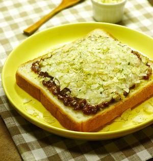 パリパリ!青のりポテチのせマヨ納豆チーズトースト 食パン(トースト)・納豆料理 -Recipe No.1401-