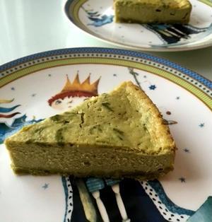 混ぜるだけ簡単♬『ベイクド抹茶チーズケーキ』