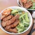 ステーキ肉で作る!野菜たっぷりビビン丼 【レシピ】