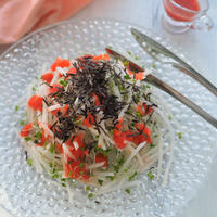 冬の大根は生が美味しい!明太大根サラダ