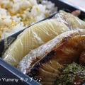 中学息子弁当~ぶりの照り焼き(タレ漬けタイプ)、豚野菜炒め焼き肉のたれかけ・・ by ゆみぴいさん