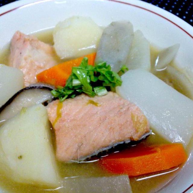 【レシピ】 石狩汁 ~鮭といえば やっぱりこれがウマい!~