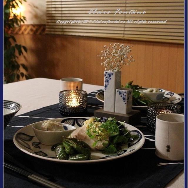塩麹鶏ハム・ガリタルタル♪で、ワンプレート和食