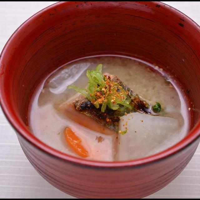 焼カイワリの味噌汁