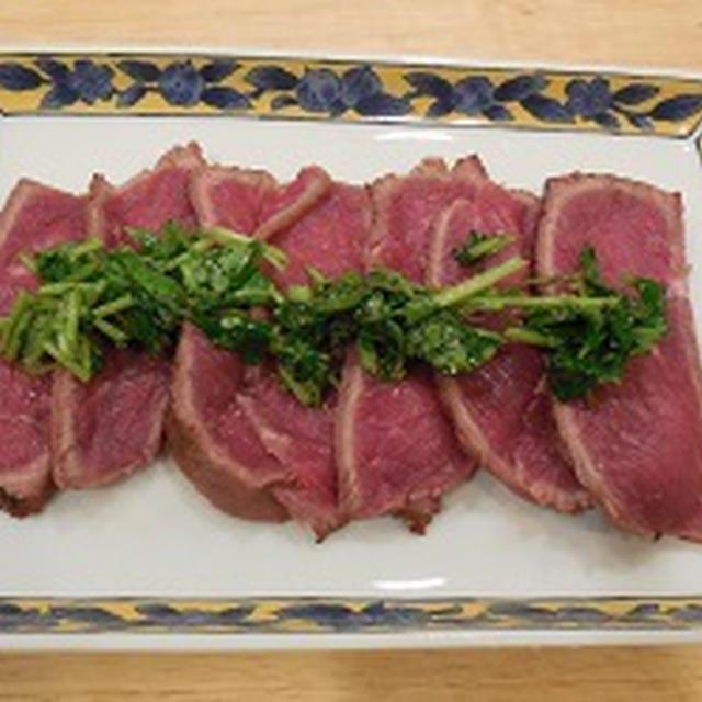 最近のレシピ ~ ネギ塩で牛肉のたたき