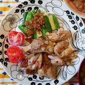鶏もものバジル焼き