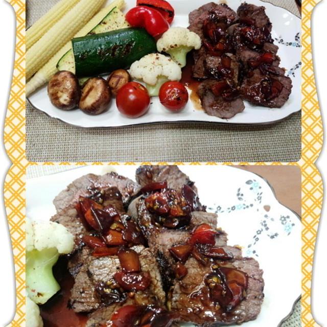 トマト&バルサミコ&スイートチリの甘辛ソース(レシピ付)