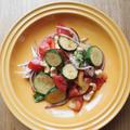 \\パクチーに恋して//ズッキーニとトマトの夏野菜サラダ