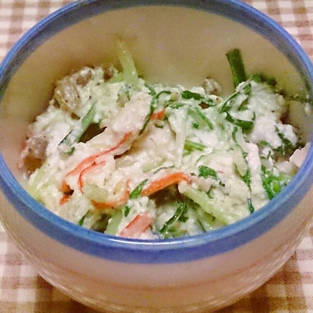 ジャコ入り水菜の白和え