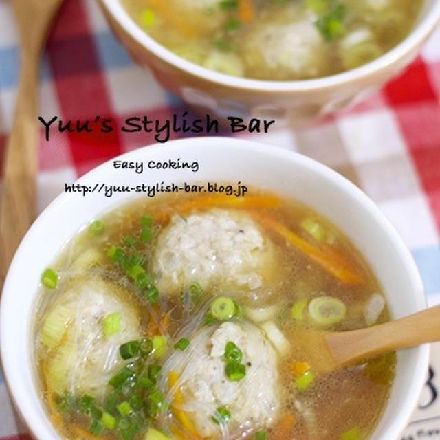 【レシピブログ連載】ポイントはオイスターソースとゴマ油♡『肉団子入り♡中華春雨スープ』