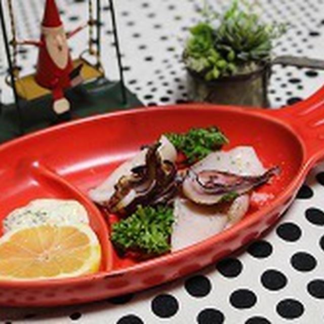 イカの炙り焼きパセマヨソース