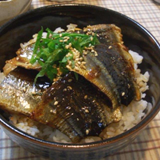 うなぎじゃ無くてごめんね(汗)秋刀魚の蒲焼丼で夕ご飯★