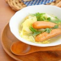 優しい味♪かぶとウィンナーの食べるおかずスープ