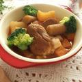 圧力鍋で♪豚肉と根菜のトマトソース煮