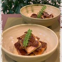 「福島クッキングアンバサダー」ヘルシー・節約レシピです!!牛肉の高野豆腐はさみ焼き
