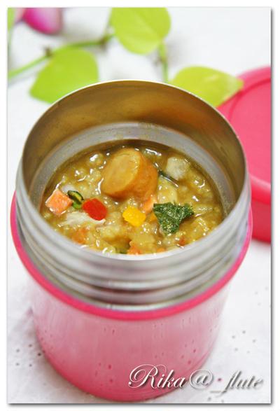 お野菜たっぷりカレーリゾット (スープジャーレシピ)