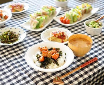 ガッツリ系サーモンの韓国風漬け丼とゴーヤチップス、兄さんのその後。
