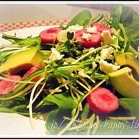ジョンソンヴィルと緑のサラダ
