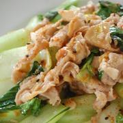 【印刷用】豚小間と青梗菜の味噌オイスター炒め