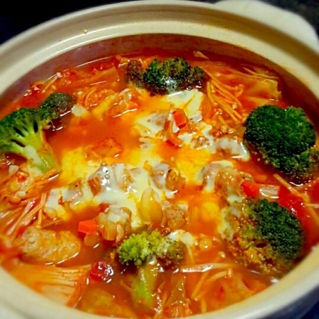 ※レシピ訂正 肉巻きトマト鍋☆