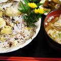 ■続・私の出前料理で 秋の朝ごはんセット【⑦雑穀と餅米入り栗ご飯/⑧豚汁】です♪