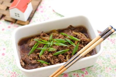 牛肉と糸こんにゃくの甘辛煮