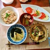 『竹の子づくし』 牛肉と竹の子の炊いたん~竹の子のレモニーセージサラダ