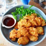 鶏むね肉で簡単♪衣付け不要♪【コンソメ・ガーリック・ナゲット】#節約レシピ #お弁当
