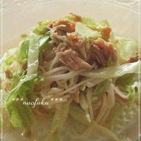 さっぱり美味しい!ツナとレタスのサラダ素麺