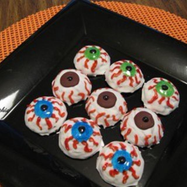 ハロウィン・アイボール・チョコレートクッキーのレシピ