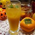 柿と梨のフルブラでオレンジカクテル&作ってくれました~♪