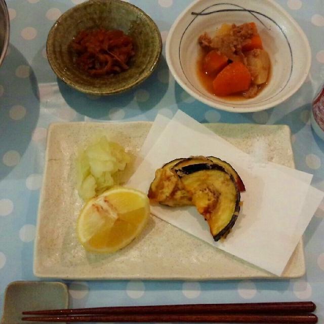 オリーブオイルで天ぷら