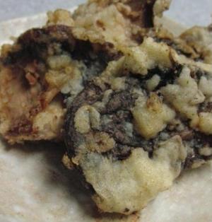 アワビみたいな冷凍椎茸の天ぷら