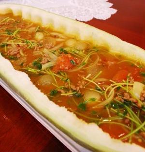 冬瓜の冷製カレースープ