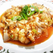 豆腐のケチャップ炒め