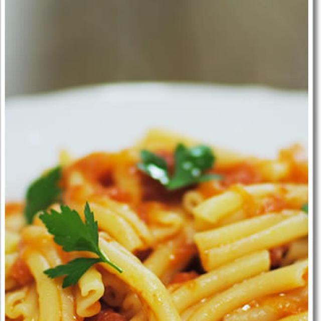 サンマルツァーノD.O.P. を使ったシンプルなトマトソースのカサレッチェ