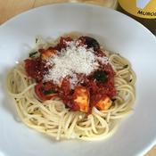 トマトとズッキーニの冷たいパスタ