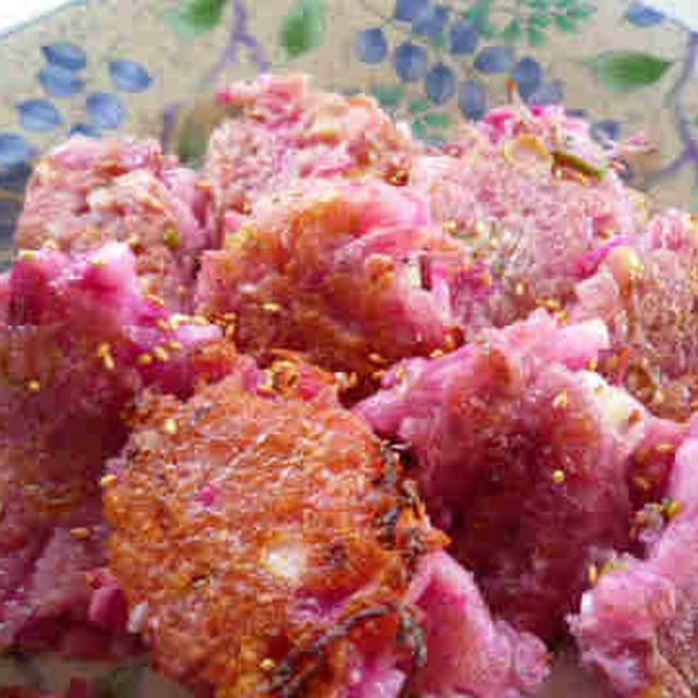ピンクの大根餅 ~紅芯大根~
