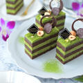 【レシピ】抹茶とヘーゼルナッツのガナッシュケーキ