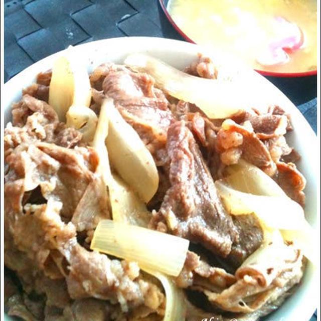 おうちで簡単「牛丼」の作り方