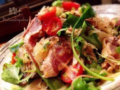 クックパッドニュース掲載 ♪ 『鰹!鰹!鰹!レアかつおイタリアンサラダ♪』またまたかつおの美味しい季節ですね(^^)