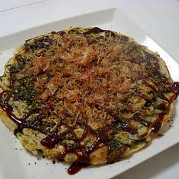 お好み焼きでランチ(Okonomiyaki / Japanese Pancake)