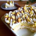 スイートポテトのモンブラン風スコップケーキ♪
