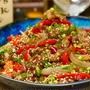 【レシピ】牛こま肉とパプリカの彩りオイスター炒め
