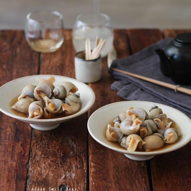 バイ貝の醤油煮。