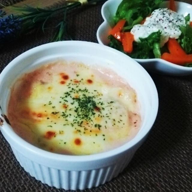 明太子とポテトのグラタン♡と、手作り豆乳マヨネーズ♡